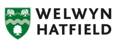 Welwyn Hatfield Borough Council logo - link to home page